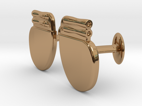 Pacemaker Cufflinks in Polished Brass