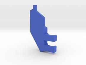 South Africa Springbok Flag Pendant: Part 6/11 in Blue Processed Versatile Plastic