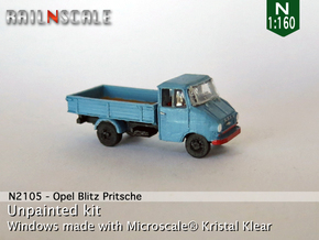 Opel Blitz A Pritsche (N 1:160) in Smooth Fine Detail Plastic