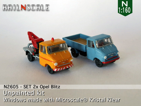 SET 2x Opel Blitz A (N 1:160) in Frosted Ultra Detail