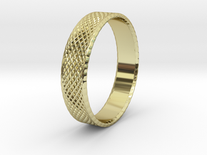 0099 Lissajous Figure Ring (Size9, 19.0mm) #001 in 18k Gold Plated Brass