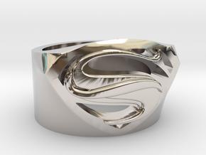 Superman Ring - Man Of Steel Ring US12 in Platinum