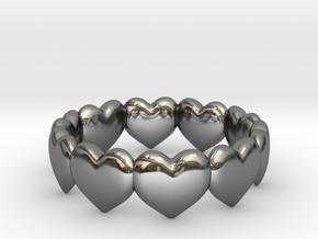 Ring Hearts in Premium Silver