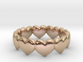 Ring Hearts in 14k Rose Gold Plated