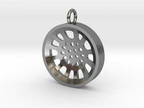 """High Tenor """"void"""" steelpan pendant, S in Polished Silver"""