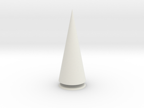 Pyramis Rotunda Solida in White Natural Versatile Plastic