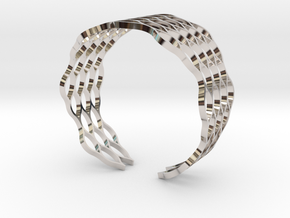 Mesh Bracelet - Small in Rhodium Plated Brass