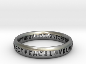 PLUR bangle in Natural Silver