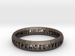 PLUR bangle in Polished Bronzed Silver Steel