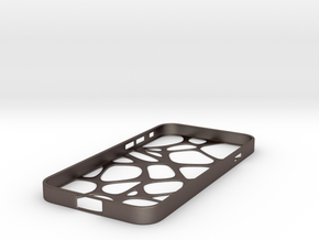 Net iPhone 6 Case in Polished Bronzed Silver Steel