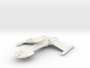Klingon Gor class battle cruiser in White Natural Versatile Plastic