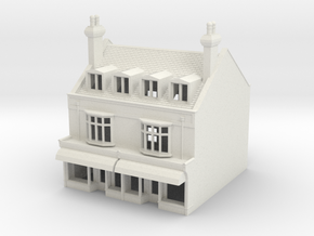 HHS-6 N Scale Honiton High street building 1:148 in White Natural Versatile Plastic