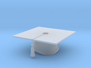 Graduation Cap - One Color in Smooth Fine Detail Plastic