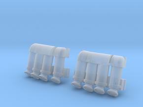 3d Shuttle SRB Tubes in Smooth Fine Detail Plastic