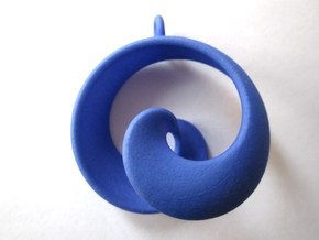 Half Mob-Tor: the half Mobius Torus Shell in Blue Strong & Flexible Polished