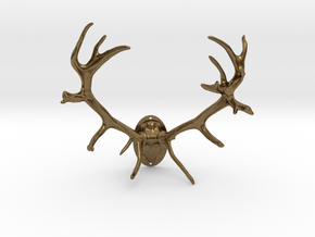 Red Deer Antler Mount 40mm in Natural Bronze