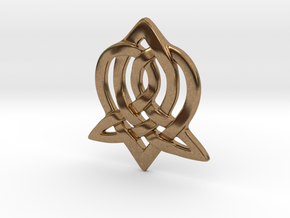Celtic Sister Pendant in Natural Brass