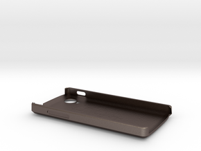 Lg Google Nexus 5 phone case  in Polished Bronzed Silver Steel