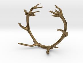 Red Deer Antler Bracelet in Natural Bronze