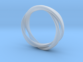 3-Twist Ring in Smooth Fine Detail Plastic