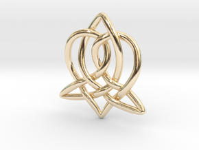 Celtic Sister Pendant - Tube Version in 14K Yellow Gold