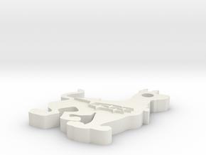 Subaru Scooby-Doo Key Chain in White Natural Versatile Plastic