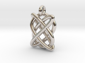 Lissajous figure in Rhodium Plated Brass