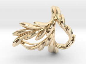 Fish Ring in 14k Gold Plated Brass