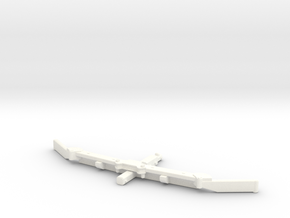1/64 Alley scraper Blade 8' in White Processed Versatile Plastic