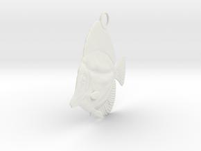 Fish Pendant in White Natural Versatile Plastic