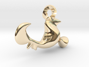 Rooster of Barcelos Pendant - Galo de Barcelos in 14k Gold Plated Brass