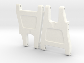 NIX63551 - RC10 wide rear arms in White Processed Versatile Plastic