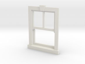 Window Type X7 22mm X 16mm - 4mm in White Natural Versatile Plastic