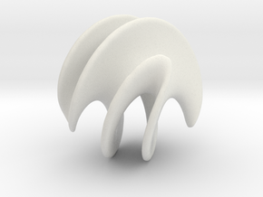 Catenox - 60mm in White Natural Versatile Plastic