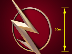The Flash - Right Ear Bolt (TV Flash) -60mm in White Strong & Flexible