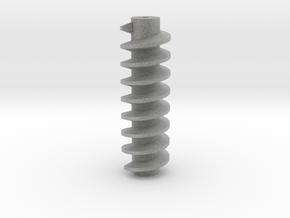 Worm Drive for hobby motors in Metallic Plastic