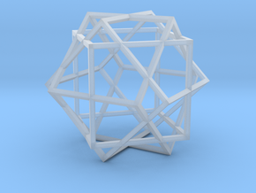 3 Cube Compound in Smooth Fine Detail Plastic