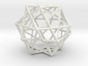 5 Cube Compound in White Natural Versatile Plastic