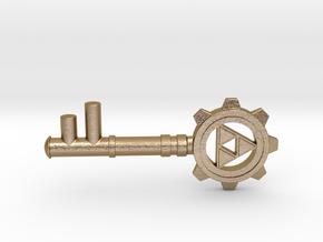 Zelda Dungeon Key in Polished Gold Steel