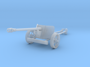 1/100 15mm scale Pak40 german anti tank gun WW2 in Smooth Fine Detail Plastic