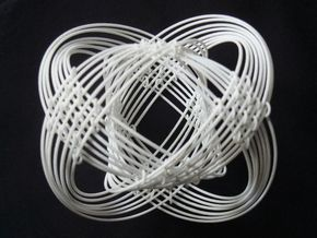 Torus Magic (80mm) in White Natural Versatile Plastic