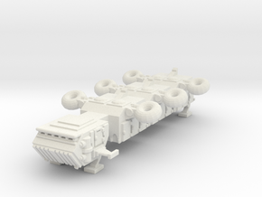 6mm Freighter with landing gear in White Strong & Flexible