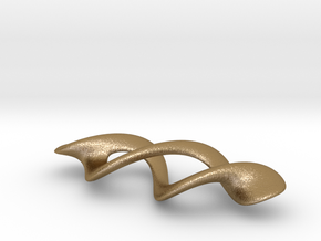 Mesh-Torus with small hole in Polished Gold Steel