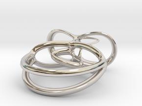 Ballerina Pendant in Rhodium Plated Brass