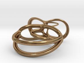 Ballerina Pendant in Natural Brass