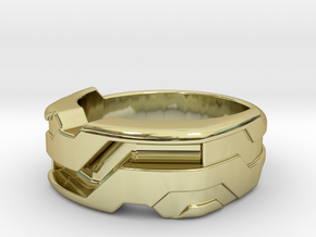 US10 Ring XXI: Tritium (Silver) in 18k Gold