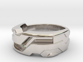 US10 Ring XXI: Tritium (Silver) in Platinum