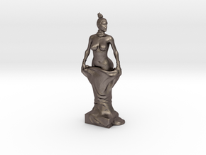 Kim Kardashian sculpture in Polished Bronzed Silver Steel