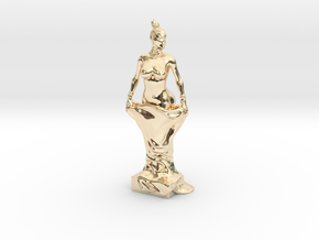 Kim Kardashian sculpture in 14k Gold Plated Brass