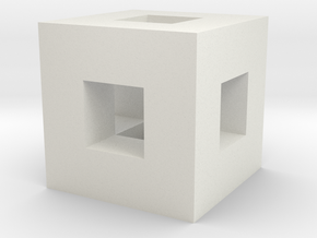 Inch Cubed With Cm Cutout in White Strong & Flexible